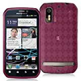 High Gloss Argyle Pink Flexible TPU Cover Skin Phone Case for Motorola Phot ....