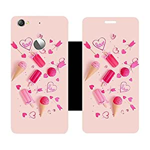 Skintice Designer Flip Cover with Vinyl wrap-around for Letv 1S, Design - Love Quirky