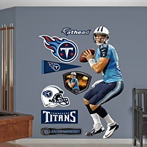 NFL Tennessee Titans Jake Locker Looking Down Field Wall Graphics by Fathead