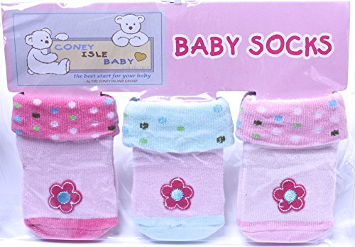 Coney Island Newborn Baby Girls Polka Dots Socks Set Of 3 back-133542