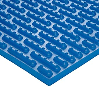 Ergomat Nitrile Rubber Anti-Fatigue Mat, for Wet Environments, Blue