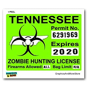 tennessee tn zombie hunting license permit