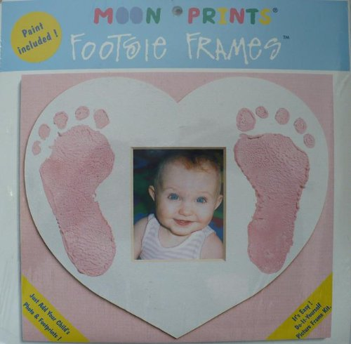"Moon Prints - Footsie Frames - Craft Kit to Make 6 7/8"" x 8"" Footprint Print Frame"