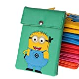 Moolecole® New Multipurpose Cell Phone Bag Crossbody Purse Wallet Despicable Me 2 Minion Design Single Strap Case Mini Satchel Purse / Shoulder Bag / Messenger Bag (Green)