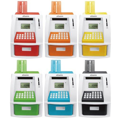 【色おまかせ】 貯金箱 ATM 自動 計算 硬貨識別 セキュリティ ATMメモリーバンク