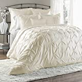 Lush Decor Lux 6-Piece Comforter Set, King, Ivory