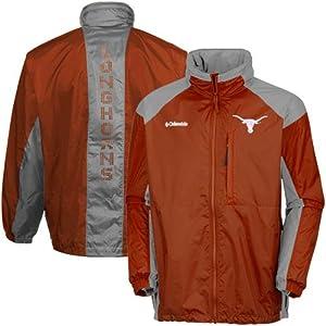 NCAA Columbia Texas Longhorns 31 Blast Full Zip Hoodie Jacket - Burnt Orange (Medium)