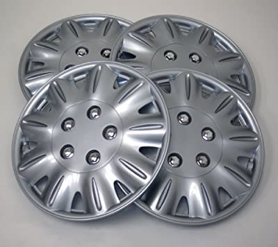 TuningPros WSC-029S15 Hubcaps Wheel Skin Cover 15-Inches Silver Set of 4