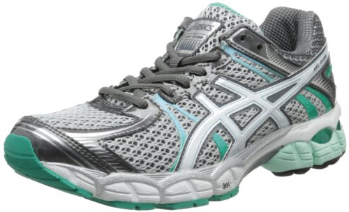 ASICS Women's GEL-Flux Running Shoe,Lightning/White/Mint,7.5 M US