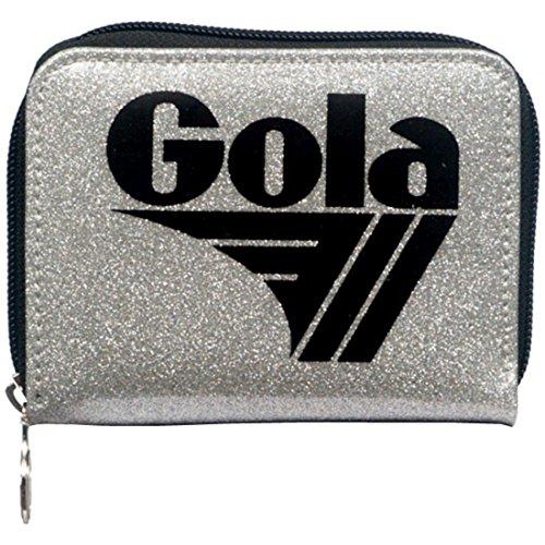 Portafoglio GOLA Zip Davis Glitter - ZCUB457JB 13x10 - Siver/Black