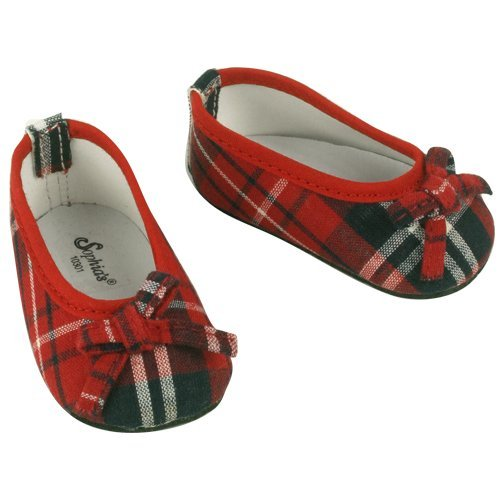 Fits American Girl Red Plaid Doll Shoes, for Doll Outfits- 18 Inch Doll Footwear