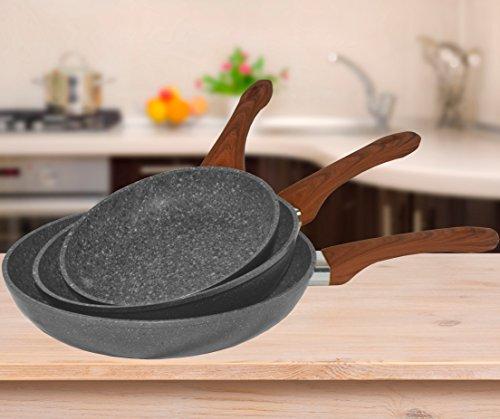 preiswert berlinger haus deep frypan mit deckel 24cm grau stein touch line bh 1165 g nstig shoppen. Black Bedroom Furniture Sets. Home Design Ideas