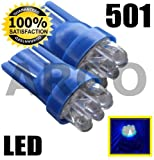 501 6 LED XENON BLUE SIDELIGHT INTERIOR NUMBER PLATE BULBS T10 W5W 194 VAUXHALL VXR8 SALOON