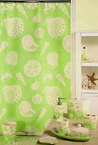Bimini lime green tropical beach sea shell for Sea green bathroom accessories