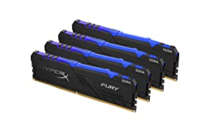 HyperX Fury 64GB 3466MHz DDR4 CL16 DIMM (Kit of 4)  RGB (Tamaño: 64GB kit (4 x 16GB))