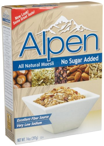 Alpen Cereal, No Sugar Added, 14-Ounce Boxes (Pack of 6)
