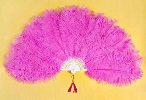 Large Ostrich Fan Hot Pink