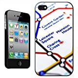 Close Up Tube Map Leicester Square, London Hard Case Clip On Back Cover For Apple iPhone 4 4S