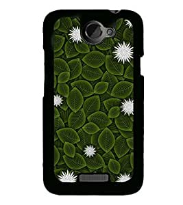 Flowers and Leaves 2D Hard Polycarbonate Designer Back Case Cover for HTC One X :: HTC One X+ :: HTC One X Plus :: HTC One XT