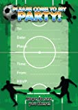 16 Football themed Birthday invitations