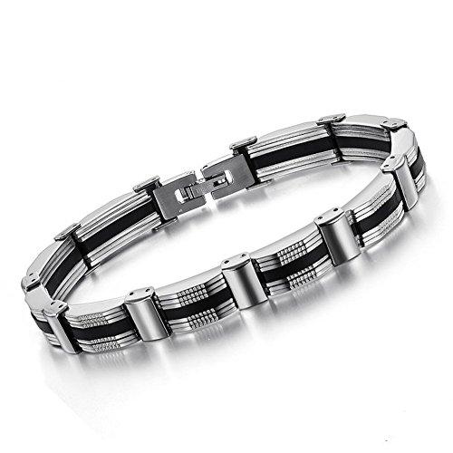 Bemaystar Men'S Titanium Stainless Steel Classical Cross Bracelet Chain