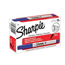 Sharpie Ultra Fine Point Permanent Markers, 12 Blue Markers(37003)