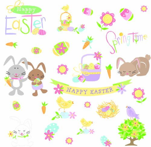 RoomMates RMK1138SCS Happy Easter Peel & Stick Wall Decals