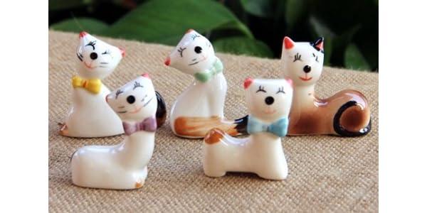 ニッコリ笑顔の 猫 の 箸置き 5個セット