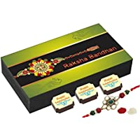 Rakhi Gift For Brother - 6 Chocolate Gift Box - Unique Rakhi Gift With Rakhi