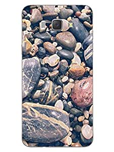 Pebbles - Full Of Stones - Abstract - Designer Printed Hard Back Shell Case Cover for Samsung J7 (2016) Superior Matte Finish Samsung J7 (2016) Cover Case