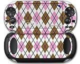 Sony PS Vita Skin Argyle Pink and Brown by WraptorSkinz