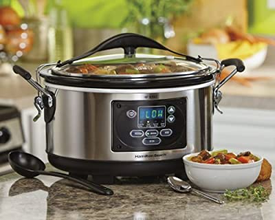 Hamilton Beach Slow Cooker Programmable 5 Quart Set & Forget (33958A) by AMZN9