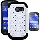 Phonelicious® For Samsung Galaxy Ace Style S765C (Straight talk) Studded Diamond 2 in 1 Hybrid Dual Layer Spotted Bling Rhinestone Hard Protector Phone Case Cover Tuff Dynamic