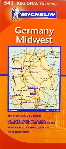 Michelin Map Germany Midwest 543 (Maps/Regional (Michelin))