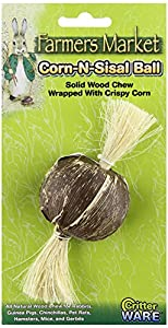 Ware Natural Bark-N-Sisal Ball Chew Toy for Small Pets