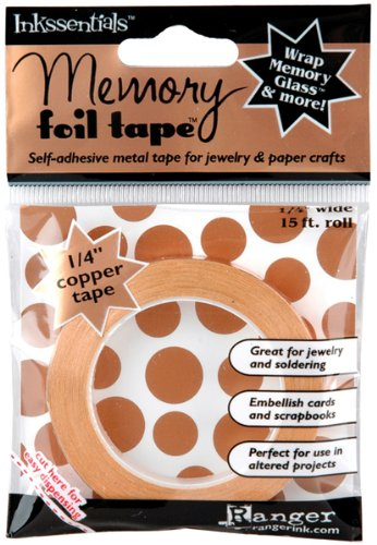 Ranger Memory Glass Foil Tape 1/4 Inch 15 Feet Per Roll, Copper