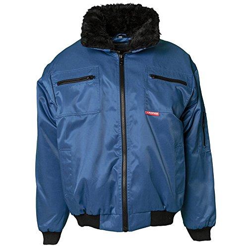 Planam 358044Gletscher Giubbotto Comfort Nero, Blu, 362064