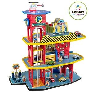 KidKraft 豪华儿童玩具车库