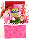 The Sweetest Valentine! Valentine's Day Gift Basket with Gharardelli and Cookies