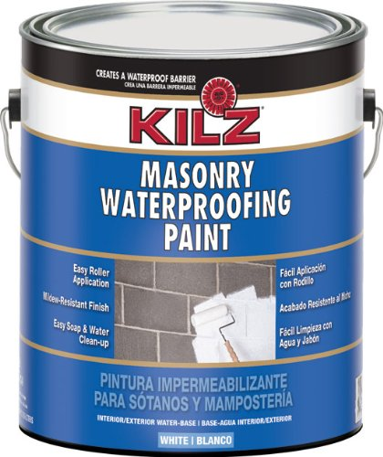 Kilz Interior Exterior Basement And Masonry Waterproofing Paint White 1 Gallon Hardware Tools