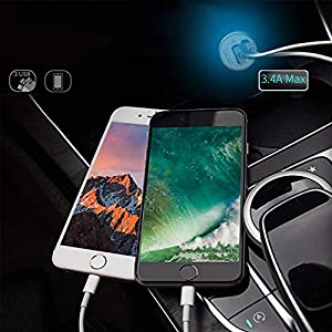 Bralon Rapid Car Charger, 3.4A 3 Ports 2-Pack Car Charger with Smart Identification for iPhone 8/7 / 6/5 / 4 (S/Plus), iPad Pro/Air 2 / Mini, Galaxy S