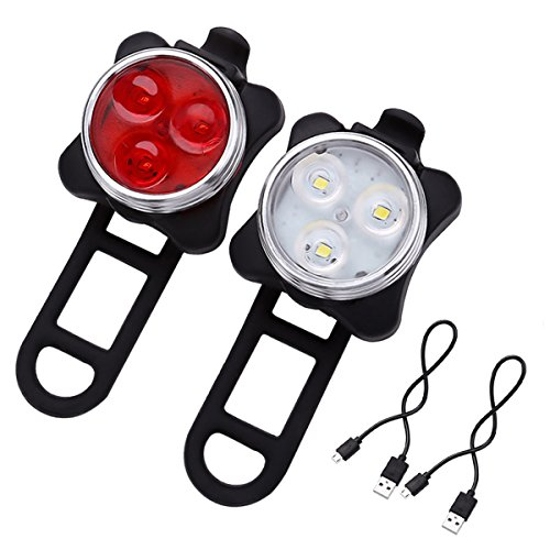 LE® Rechargeable LED Bike Light Set, Cycling Headlight