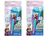 Disney Frozen Light Up Melody Microphone x 2