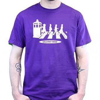 Dr Who The Beatles Gallifrey Road T-Shirt - violett, Größe:3XL