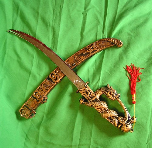 Asian Inspired Black Knight Costume Dagger