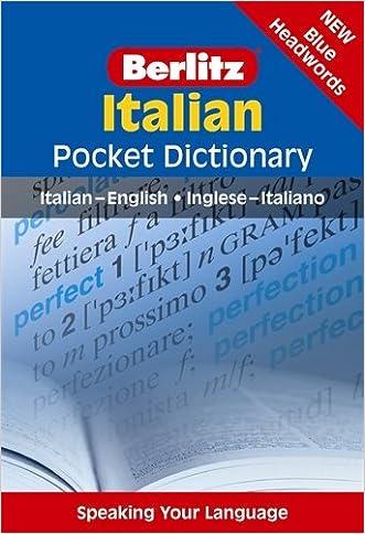 Italian Pocket Dictionary: Italian-English/Inglese-Italiano (Berlitz Pocket Dictionary)