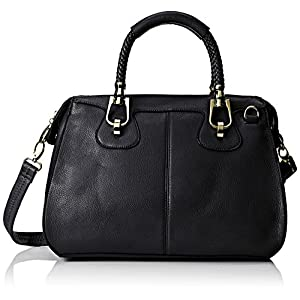 MG Collection Marissa Top Handle Doctor Shoulder Bag, Black, One Size
