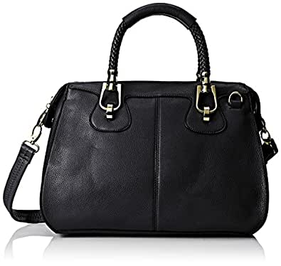 MG Collection Marissa Top Handle Doctor Shoulder Bag, Black, One Size