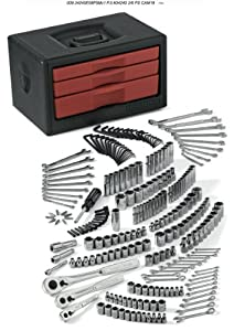 Craftsman 9-34245 Mechanic's Tool Set in 3 Drawer Chest, 245-Piece
