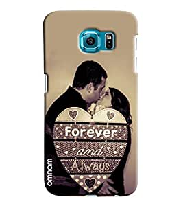 Omnam Black And White Effect Of Couple Making Love Printed Designer Back Case Samsung Galaxy S6 EDGE Plus